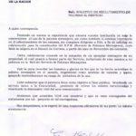 Carta del SPM al Colegio Militar de la Nación